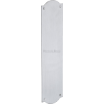 30cm Shaped Finger Plate Door Push Satin Chrome