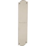 30cm Shaped Finger Plate Door Push Satin Nickel