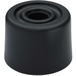1 Inch Door Stop Black Rubber