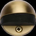 Oval Shielded Floor Mounted Door Stop Satin Brass