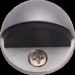 Oval Shielded Floor Mounted Door Stop Satin Chrome