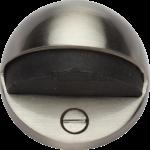 Oval Shielded Floor Mounted Door Stop Satin Nickel
