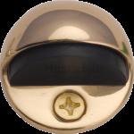 Oval Shielded Floor Mounted Door Stop Polished Brass