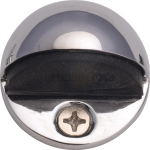 Oval Shielded Floor Mounted Door Stop Polished Chrome