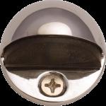 Oval Shielded Floor Mounted Door Stop Polished Nickel