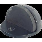 50mm Oval Shielded Floor Mounted Doorstop Antique Black