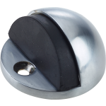 JV86 Satin Chrome Shielded Doorstop