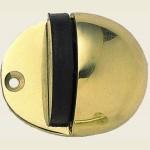 JV86 Polished Brass Shielded Doorstop