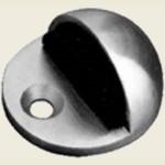 JPS08 Polished Stainless Steel Oval Floor Mount Doorstop