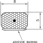 Aquamac Door Window Seal AQUA122 Brown 10m