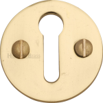 32mm Round Open Keyhole Escutcheon Polished Brass