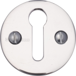32mm Round Open Keyhole Escutcheon Polished Chrome