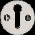 32mm Round Open Keyhole Escutcheon Polished Nickel