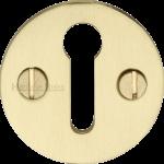 32mm Round Open Keyhole Escutcheon Satin Brass