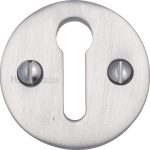 32mm Round Open Keyhole Escutcheon Satin Chrome