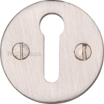 32mm Round Open Keyhole Escutcheon Satin Nickel