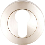 Euro Profile Cylinder Lock Escutcheon Satin Nickel
