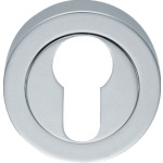 Euro Profile Cylinder Escutcheon Polished Chrome
