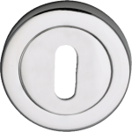 Designer Standard Keyhole Escutcheon Polished Chrome