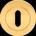 Designer Satin Brass Keyhole Escutcheon