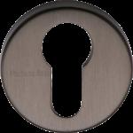 45mm Round Euro Profile Lock Escutcheon Matt Bronze