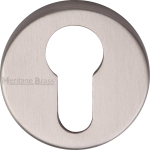 45mm Round Euro Profile Lock Escutcheon Satin Nickel