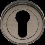 50mm Round Euro Profile Lock Escutcheon Matt Bronze