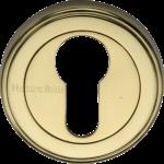 50mm Round Euro Profile Lock Escutcheon Polished Brass