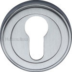 50mm Round Euro Profile Lock Escutcheon Satin Chrome