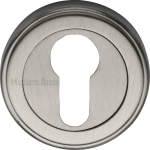 50mm Round Euro Profile Lock Escutcheon Satin Nickel