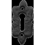Black Iron Decorative Shaped Keyhole Escutcheon