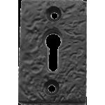Black Iron Rectangular Keyhole Escutcheon