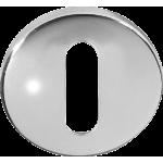 Open Standard Keyhole Escutcheon Polished Stainless Steel