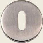 JSS03 Satin Stainless Steel Oval Profile Keyhole Escutcheon