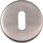 JSS16 Satin Stainless Steel Standard Profile Keyhole Escutcheon