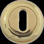 48mm Round Standard Key Escutcheon Polished Brass
