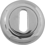 48mm Round Standard Key Escutcheon Polished Chrome
