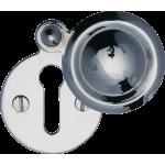 33mm Round Covered Keyhole Escutcheon Polished Chrome