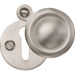 33mm Round Covered Keyhole Escutcheon Satin Nickel