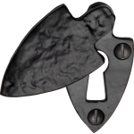 Black Iron Covered Shield Keyhole Escutcheon