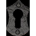 Euro Profile Black Iron Escutcheon