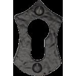 60mm Euro Profile Lock Cylinder Iron Escutcheon Matt Black Antique