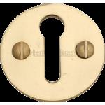 Designer Victorian Polished Brass Keyhole Escutcheon