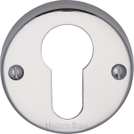 45mm Round Euro Profile Lock Escutcheon Polished Chrome