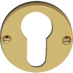 Polished Brass Euro Profile Cylinder Escutcheon