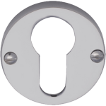 Polished Chrome Euro Profile Cylinder Escutcheon