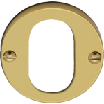 Polished Brass Oval Profile Cylinder Escutcheon