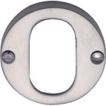Satin Chrome Oval Profile Cylinder Escutcheon