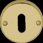 45mm Round Standard Key Open Escutcheon Polished Brass