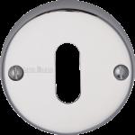 45mm Round Standard Key Open Escutcheon Polished Chrome